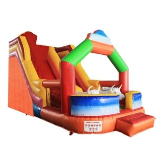 ALEKO Commercial Grade Outdoor Bounce House with Slide and Blower - 23 x 20 x 16 feet