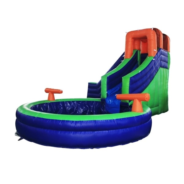 Shop ALEKO Commercial Inflatable Bounce House Water Slide