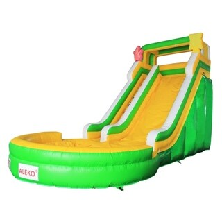ALEKO Commercial Grade Inflatable Bounce House with Pool and Blower - 26.5 x 13 x 17 feet