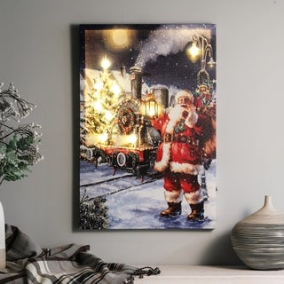 Winter Wonderland Santa Print with LED Lights
