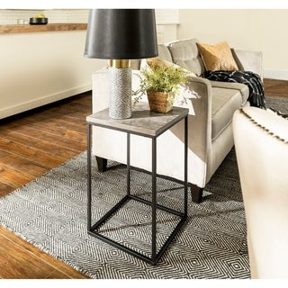 Carbon Loft Geller Square Urban Side Table - 16 x 16 x 24h