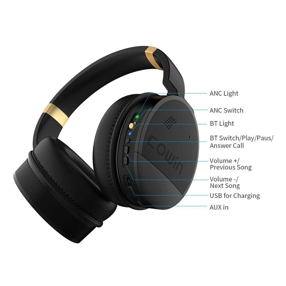 COWIN E8 Wireless Active Noise Cancelling Headphone with Stereo Sound