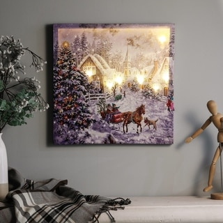 Winter Wonderland Sleigh Ride Print with LED Lights