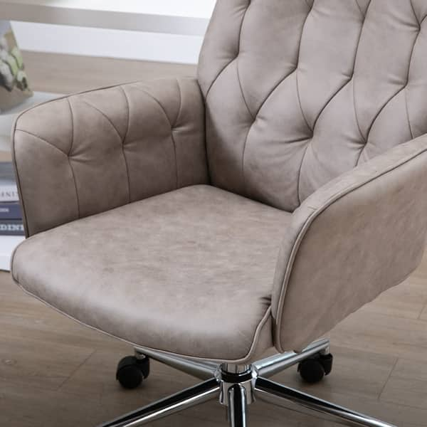 Shop Adjustable Modern Linen Upholstered Office Chair With Lumbar Support And Arms Overstock 22405951 Grey