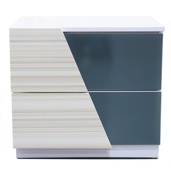 Best Master Furniture Zebra/ Gray 2 Drawer Nightstand