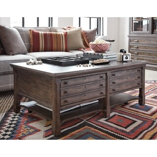 Jefferson Market Traditional Coffee Table with Casters