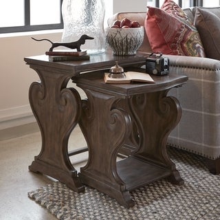 Jefferson Market Traditional Aged Whiskey Nesting End Table