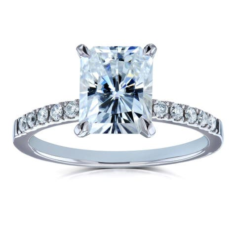 Annello by Kobelli 14k Gold 3 Carats (ct.tw) Radiant Moissanite and Diamond Engagement Ring (FG/VS, GH/I)
