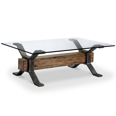 Sawyer Industrial Reclaimed Rectangular Cocktail Table