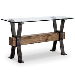 Sawyer Industrial Reclaimed Rectangular Entryway Sofa Table