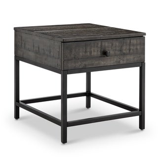 Parker Rustic Distressed Whiskey Rectangular End Table
