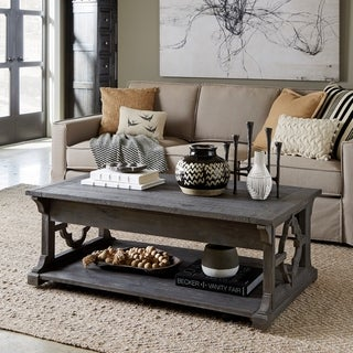 Norwood Rustic Grey Lift Top Coffee Table with Casters