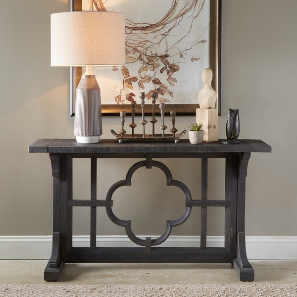 15 Entrance Hall Table Styles To Marvel At: Shop Norwood Farmhouse Rustic Grey Rectangular Entryway