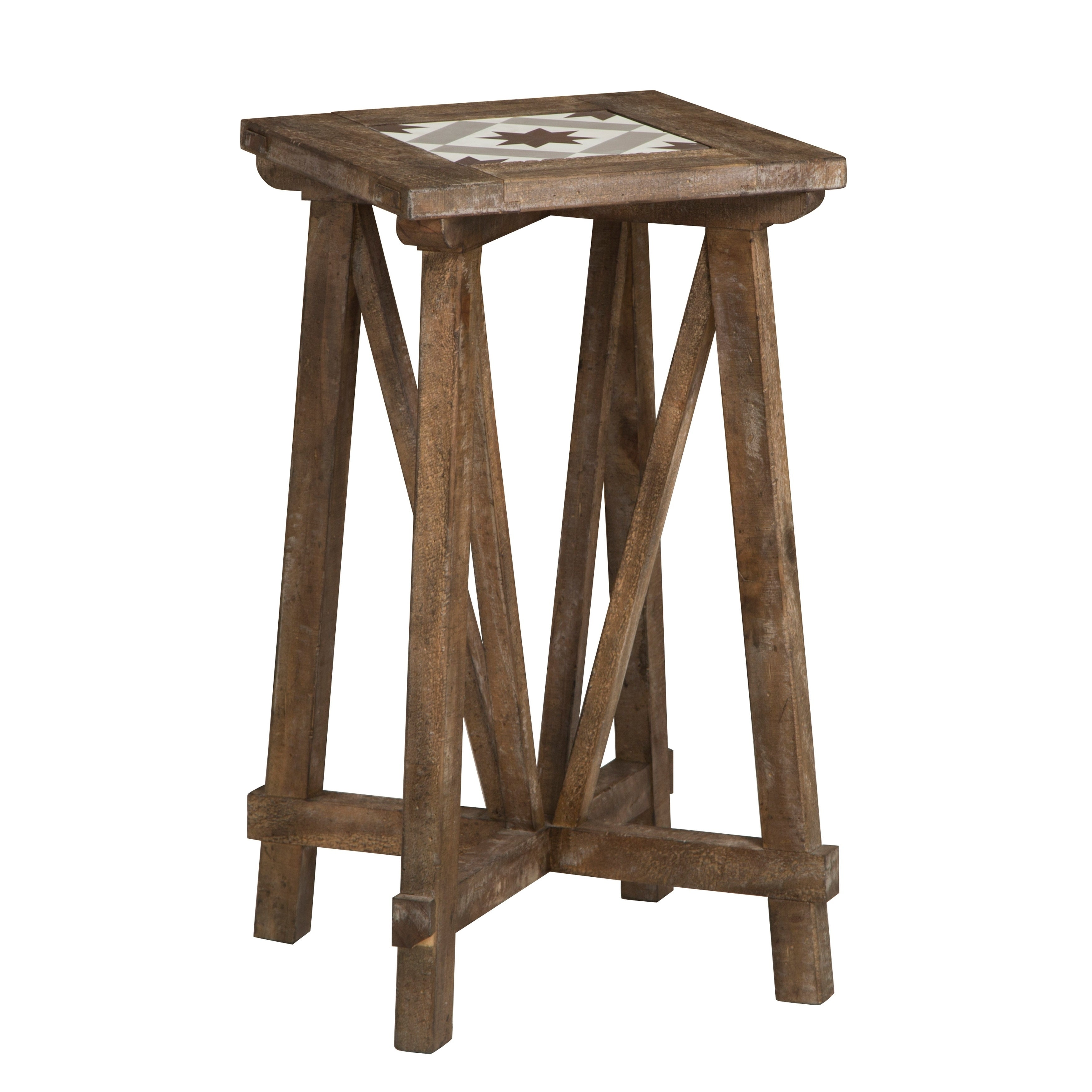 Bluff Heights Rustic Weathered Nutmeg Square End Table