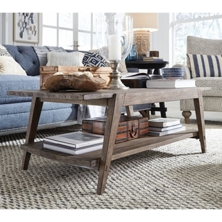 Bluff Heights Rustic Weathered Nutmeg Shelf Coffee Table