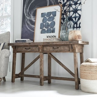 Bluff Heights Rustic Weathered Nutmeg Flip Top Sofa Table