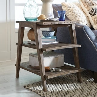 Bluff Heights Rustic Weathered Nutmeg Shelf End Table