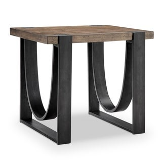 Bowden Industrial Rustic Honey Rectangular End Table
