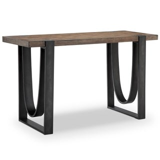 Bowden Industrial Rustic Honey Rectangular Entryway Table