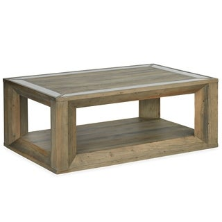 Brunswick Farmhouse Rectangular Coffee Table with Casters
