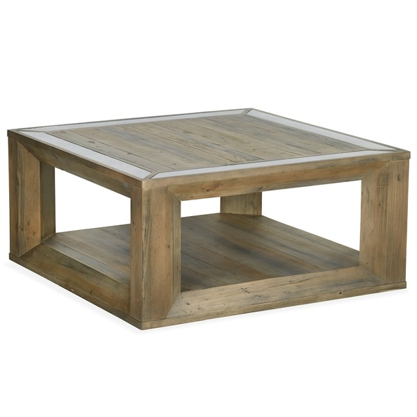 Shop Brunswick Farmhouse Square Coffee Table With Casters Ships To