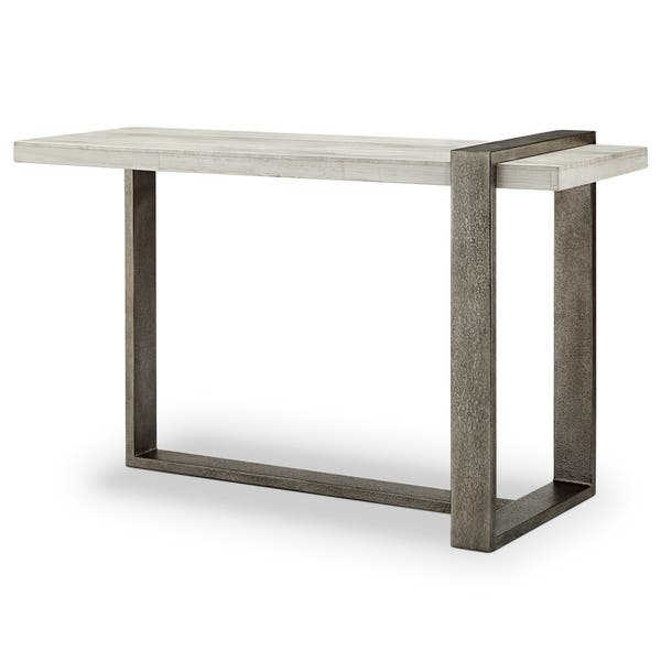 Brilliant Shop Wiltshire Modern Marble Veneer And Metal Sofa Table Theyellowbook Wood Chair Design Ideas Theyellowbookinfo