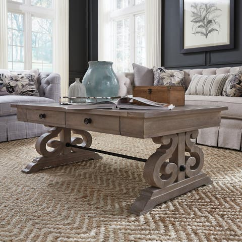 Tinley Park Traditional Dove Tail Grey Coffee Table