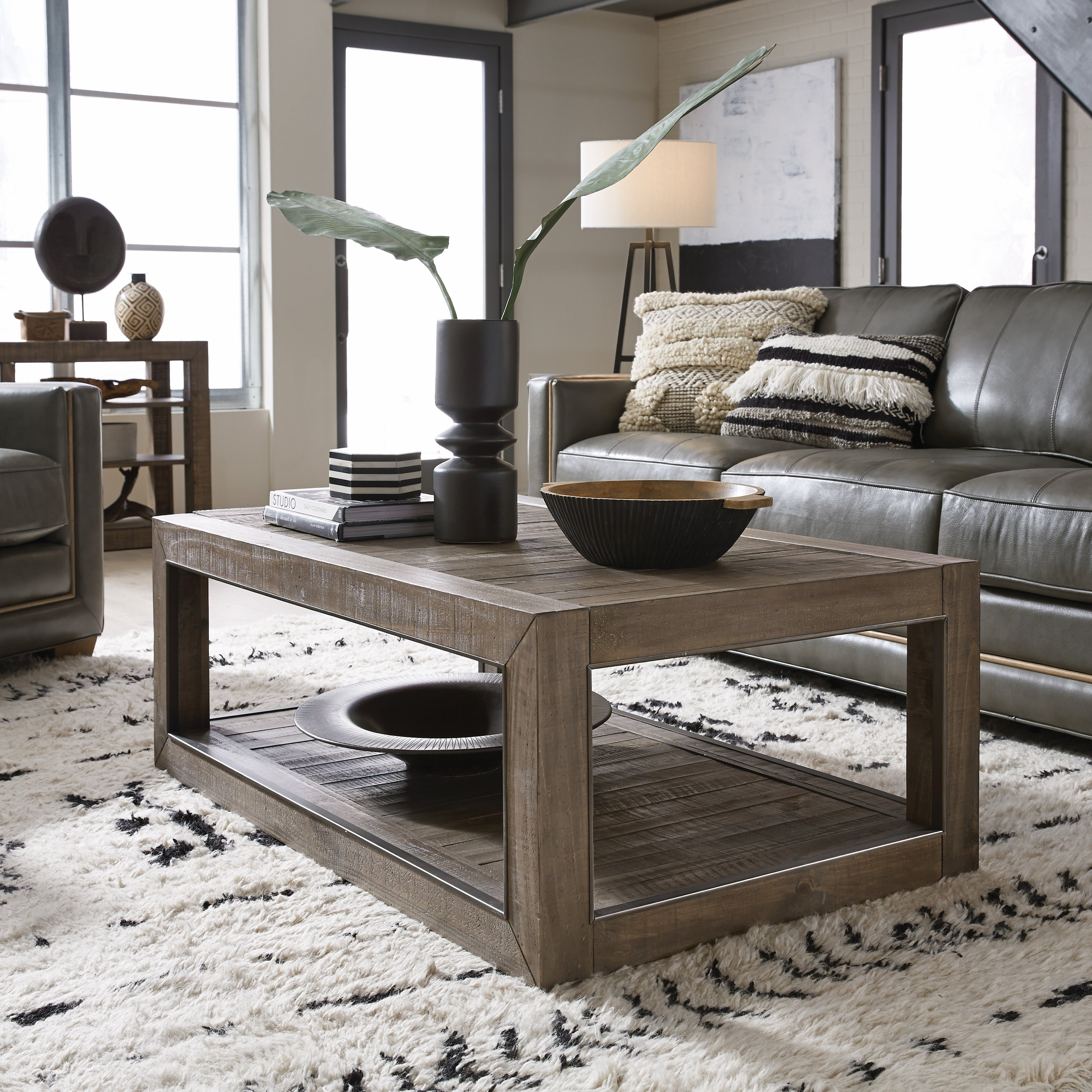 Granada Hills Contemporary Rectangular Coffee Table