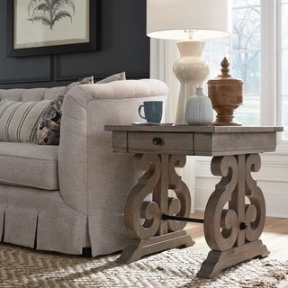 Tinley Park Traditional Dove Tail Grey End Table