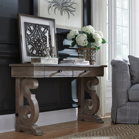 Tinley Park Traditional Dove Tail Grey Entryway Sofa Table