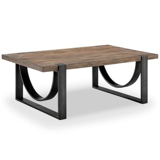 Bowden Industrial Rustic Honey Rectangular Coffee Table