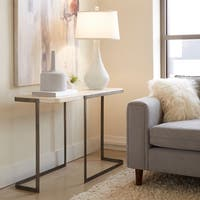 Deaton Contemporary Natural Travertine Entryway Sofa Table