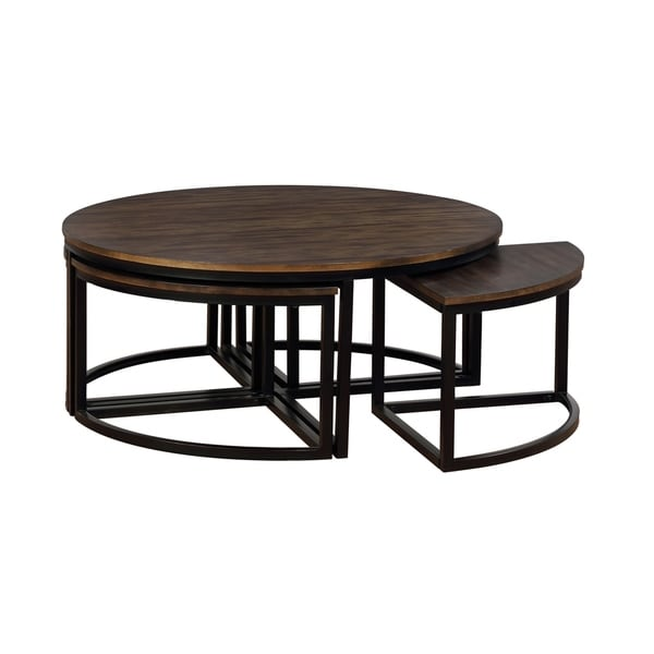World Market Round Coffee Table Mcclanmuse Co: Shop Arcadia Mocha Acacia Wood 42-inch Round Coffee Table
