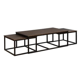 Arcadia Acacia Wood Nesting Coffee Tables