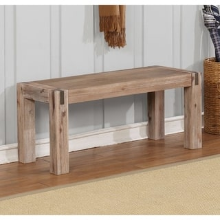 1919a82068b7d Woodstock Acacia Wood with Metal Inset Bench