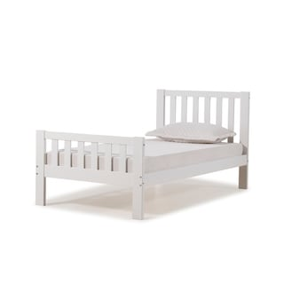 Aurora Solid Wood Twin Bed (White)