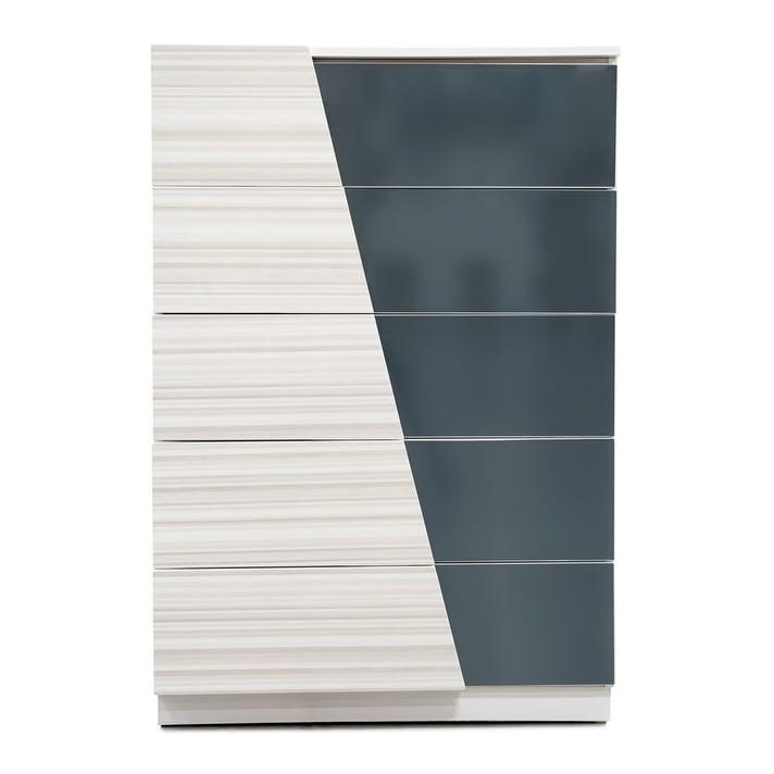 Best Master Furniture Zebra/ Gray 5 Drawer Chest