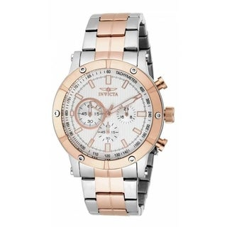 Invicta Men's 18165 'Specialty' Multi-Function Rose-Tone and Silver Stainless Steel Watch