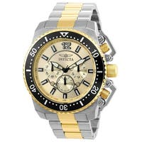 Invicta Men's  'Pro Diver' Gold-Tone and Silver Stainless Steel Watch