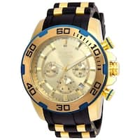 Invicta Men's 22345 'Pro Diver' Scuba Black and Gold-Tone Polyurethane and Stainless Steel Watch