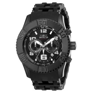 Invicta Men's 22454 'Sea Spider' Black and Stainless Steel Polyurethane and Stainless Steel Watch