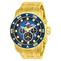 Invicta Men's  'Disney' Mickey Mouse Gold-Tone Stainless Steel Watch