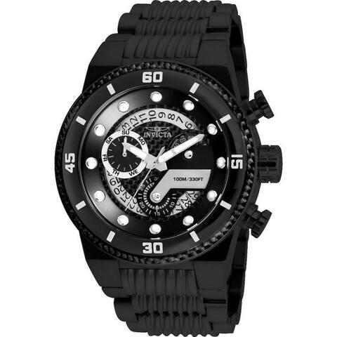 Invicta Men's 25284 'S1 Rally' Black Polyurethane Watch