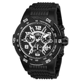 Invicta Men's 'Speedway' Black Stainless Steel Watch