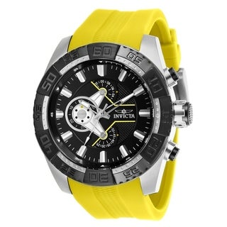 Invicta Men's 25993 'Pro Diver' Yellow Silicone Watch