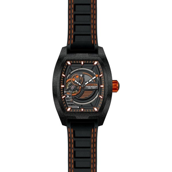 2f8829470 Shop Invicta Men's 26893 'S1 Rally' Diablo Automatic Black Leather Watch -  Free Shipping Today - Overstock - 22407340