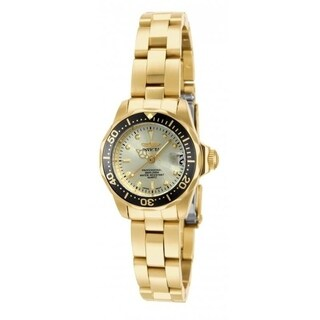 Invicta Women's 'Pro Diver' Gold-Tone Stainless Steel Watch