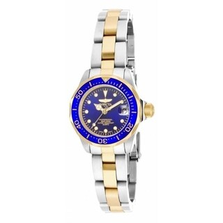 Invicta Women's 'Pro Diver' Gold-Tone and Silver Stainless Steel Watch