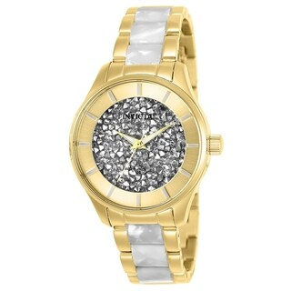 Invicta Women's 25245 'Angel' Gold-Tone and White Inserts Stainless Steel Watch