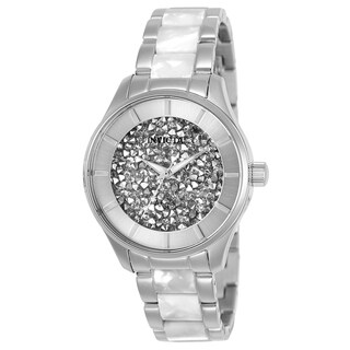 Invicta Women's 25246 'Angel' Gold-Tone and White Inserts Stainless Steel Watch